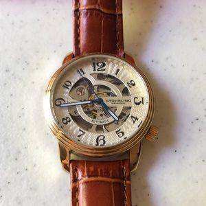 Stührling Automatic Skeletonized Watch